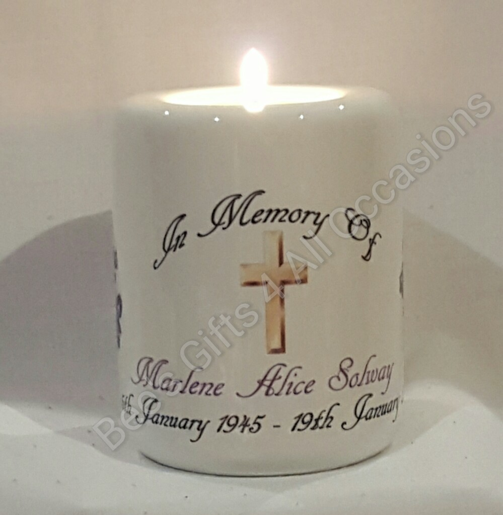 Ceramic Candle Holder 82 X 100mm Personalised Glass Candle Holder